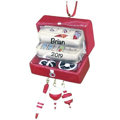 Fishing Tackle Box Personalized Christmas Ornament
