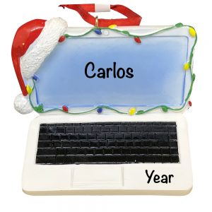Laptop Computer 3D Personalized Christmas Ornament