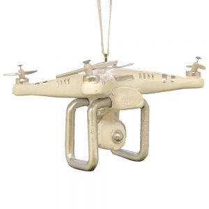 Drone Personalized Christmas Ornament - Blank