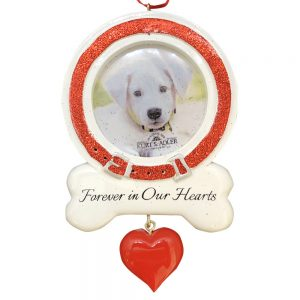 Dog Memorial Photo Frame Personalized Christmas Ornament - Blank