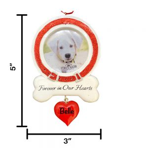 Dog Picture Frame Personalized Christmas Ornament