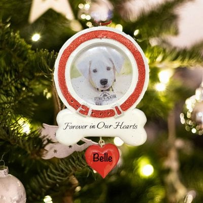 Personalized Dog Memorial Photo Frame Christmas Ornament