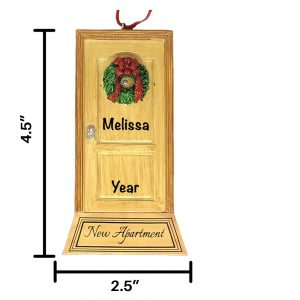 New Apartment Door Personalized Christmas Ornament