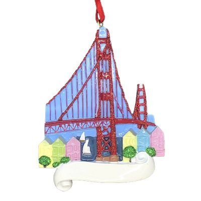 San Francisco Personalized Christmas Ornament Blank
