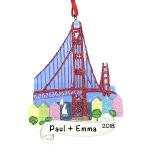 San Francisco Personalized Christmas Ornament