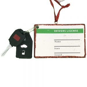 Drivers License Personalized Christmas Ornament - Blank