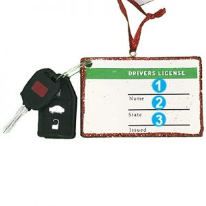 Drivers License Personalized Christmas Ornament - Numbered