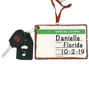 Drivers License Personalized Christmas Ornament