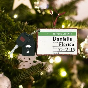 Personalized Drivers License Tag Christmas Ornament