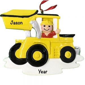 Construction Loader Personalized Christmas Ornament