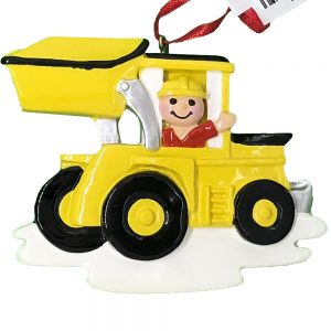 Construction Loader Personalized Christmas Ornament Blank