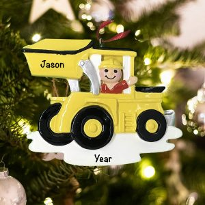 Personalized Construction Loader Christmas ornament