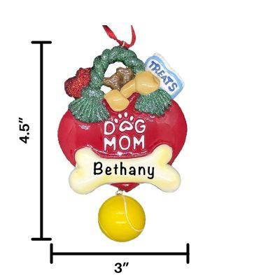 Dog Mom Personalized Christmas Ornament