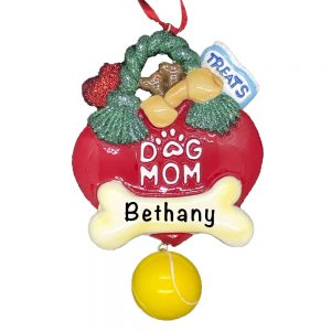 Dog Mom Personalized Christmas Ornament