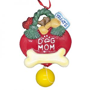 Dog Mom Personalized Christmas Ornament - Blank