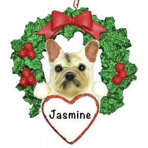 French Bulldog Dog Personalized Christmas Ornament