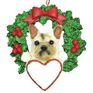 French Bulldog Dog Personalized Christmas Ornament Blank