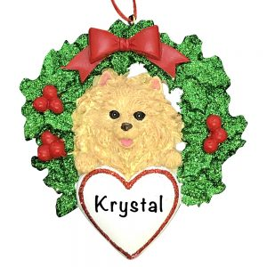 Pomeranian Dog Personalized Christmas Ornament