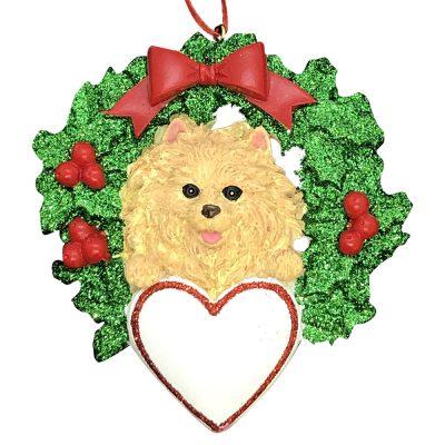 Pomeranian Dog Personalized Christmas Ornament Blank