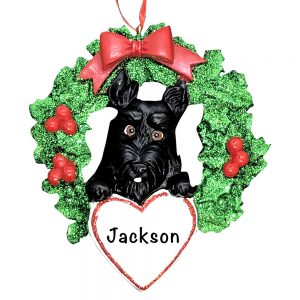 Scottie Dog Personalized Christmas Ornament