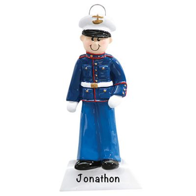 Marine Corps Personalized Christmas Ornament