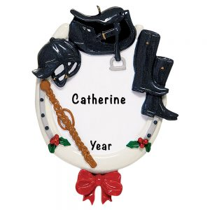 Equestrian Horse Riding Attire Personalized Ornament