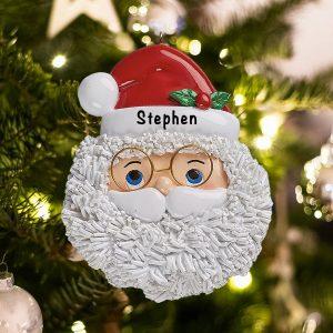 Personalized Santa Face Christmas Ornament