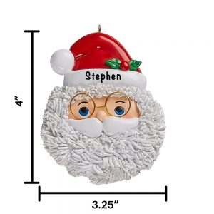 Santa Face Personalized Christmas Ornament