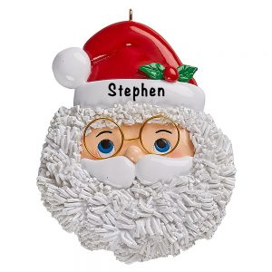 Santa Face Personalized Ornament
