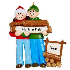 Great Outdoors Couple Personalized Ornament