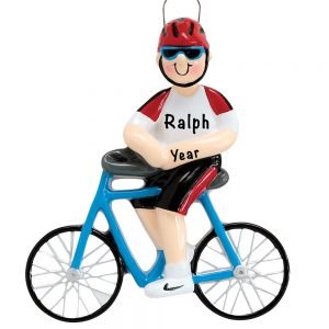 Cycling Guy Personalized Ornament