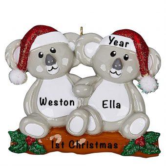 Koala Couple Personalized Ornament