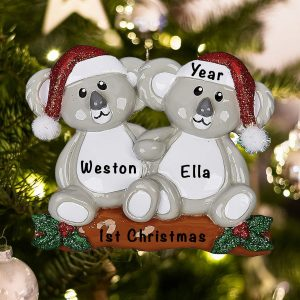Personalized Koala Couple Christmas Ornament