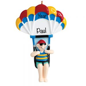 Parasailing Boy Personalized Ornament