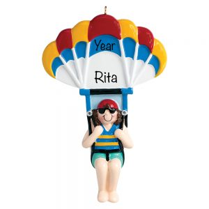 Parasailing Girl Personalized Ornament