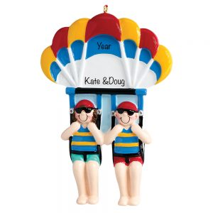 Parasailing Couple Personalized Ornament
