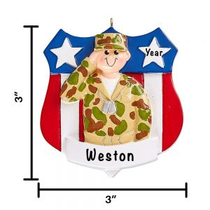 Army Military Personalized Christmas Ornament