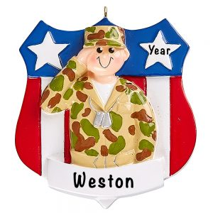 Army Military Personalized Ornament