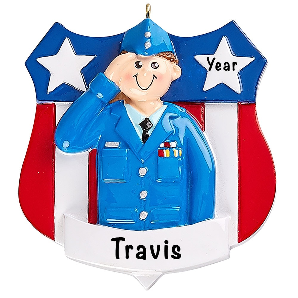 Air Force Military Personalized Ornament