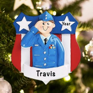 Personalized Air Force Military Christmas Ornament