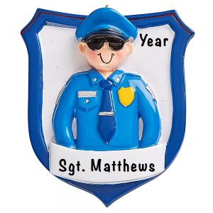Police Officer Man Personalized Ornament