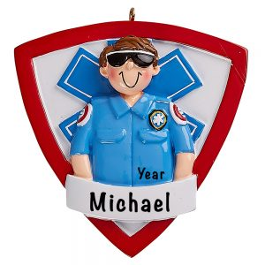 EMT Paramedic Guy Personalized Ornament