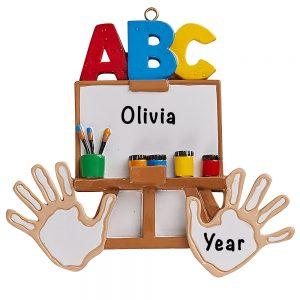 Kindergarten ABC Personalized Ornament
