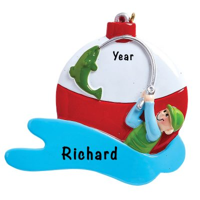 Fishing Guy Personalized Ornament