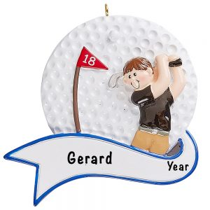 Golf Swing Guy Personalized Ornament Blank