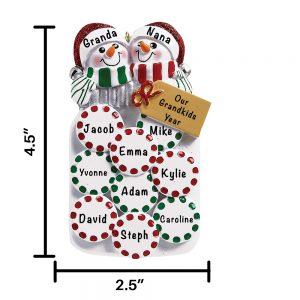 Mason Jar Snow Couple Personalized Christmas Ornament