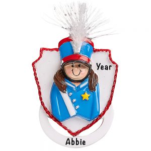 Marching Band Girl Personalized Ornament