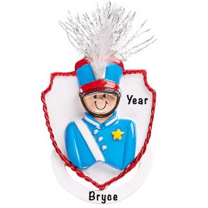 Marching Band Boy Personalized Ornament