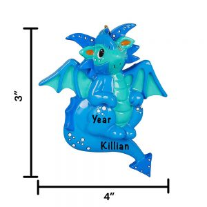 Dragon Personalized Christmas Ornament