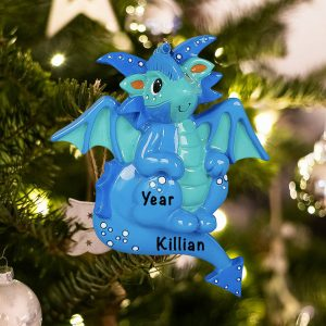 Personalized Dragon Christmas Ornament